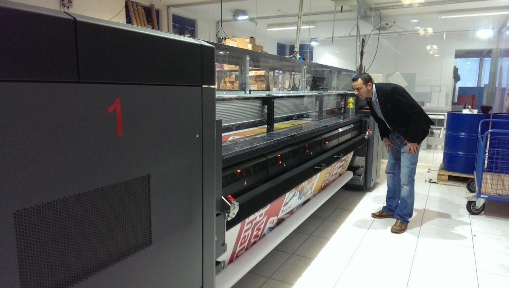Moderner Bauzaunplanen Drucker